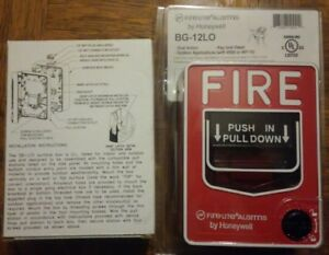 Fire lite Alarms Bg 12lo Fire Pull Station New In Package And Sb I o Mount