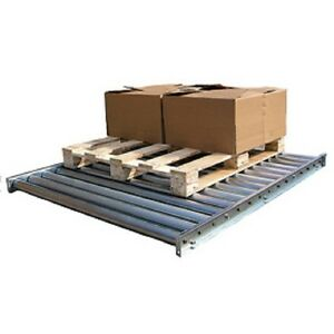 New Vestil Galvanized Steel Pallet Floor Conveyor 10 l 5000 Lb