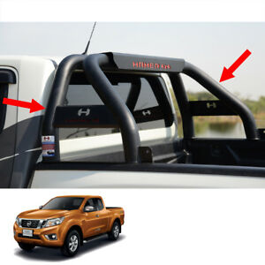 Short Roll Bar Steel Hamer Matte Black Hr 1601 Fits Nissan Np300 Truck 2015 17