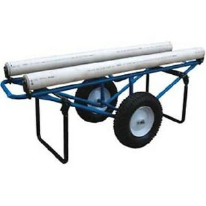 New Portable Carpet Dispenser Cart With Pneumatic Casters 500 Lb Capacity