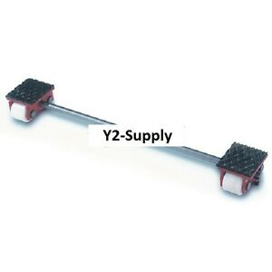 New Machinery Roller Dolly Rigid Plates adjustable Connector Bar 4400 Lb Cap