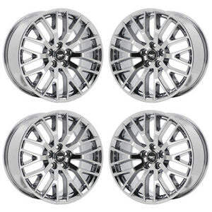 19 Ford Mustang Gt Pvd Chrome Wheels Rims Factory Oem 2017 2018 Set 10036 10038