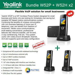 Yealink W52h X2 Cordless Voip Phone W52p Base Unit Poe Hd Voice
