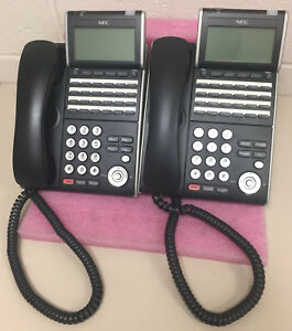 Lot Of 2 Nec Dt700 Series Display Telephones Itl 24d 1 bk Ilv xd z y bk