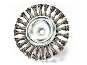 5 Inch Knot Wire Wheel Brush For Angle Grinder 5 8 11 Arbor Pack Of 3