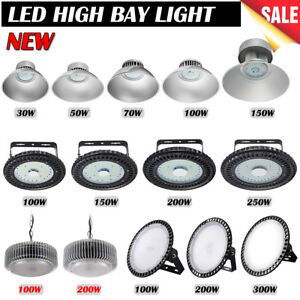 30w 300w Ufo Led High Bay Light Workshop Factory Warehouse Industrial Lighting