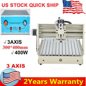 3axis 3040 Cnc Router Engraver 3d Cutter Engraving Drilling Machine Milling 400w