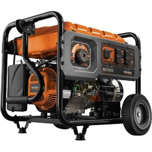 New 7000 Watt Generator Gas Engine Recoil electric Start Includes Cord