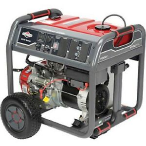 New Briggs Stratton Elite Series 7000 Watt gas Engine recoil electric Start