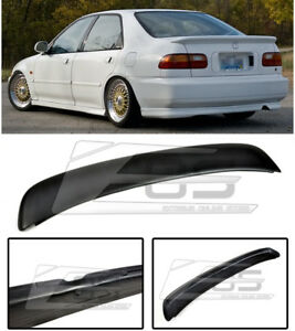 Eos Body Kit Ferio Style Rear Trunk Lip Wing Spoiler For 92 95 Civic 4dr Sedan