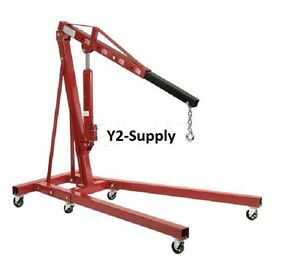 New Folding Floor Crane With Telescopic Boom 4000 Lb Capacity