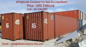 special 45hc For Shipping Storage Container In La long Beach Ca 2300