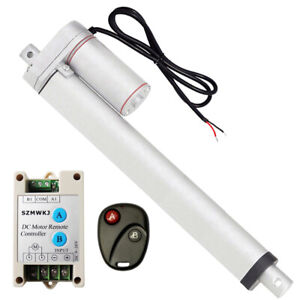 12 Linear Actuator 12v Dc Motor W Wireless Remote Control For Car Solar System