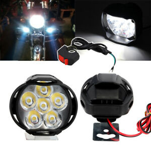 2x 12v Spotlight Led Motorcycle Front Side Light Fog Driving Lamp Bar Switch