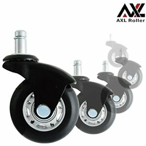 Casters Axl Office Chair Caster Wheels Replacement Heavy Duty With Rollerblade