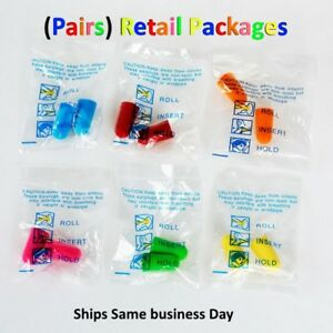 Ear Plugs Foam Sleep Aid Anti Noise Reduction Travel Shoot Hearing Protection