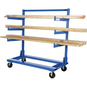 New Portable Cantilever Rack Cart 60 l X 30 w