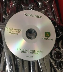 John Deere 6620 7720 8820 Combine Technical Service Repair Manual Tm1202 On Cd