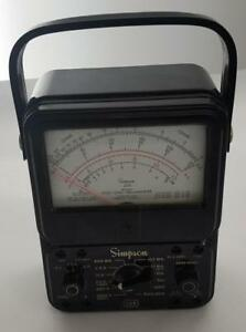 Vintage Simpson 260 Series 5 Multimeter Volt ohm milliammeter