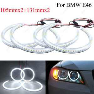 4pcs For Bmw E83 X3 2000 2010 Ccfl Angel Eyes 7000k White Halo Rings Light Kit