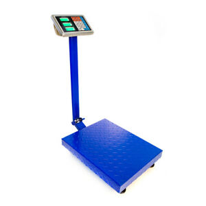 660lbs 2 2lb Lcd Digital Floor Bench Scale Postal Platform Shipping 300kg Weigh