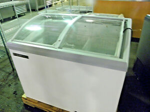 New True Tfm41al Two Sliding Doors Low Temp Ice Cream Display Chest Freezer