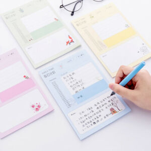Weekly Daily Planner Note Pad Plan Schedule To do Memo Notes Pastel Color