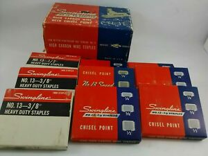 Vintage Swingline Staples No 13 3 8 Chisel Point High Carbon Wire Sta