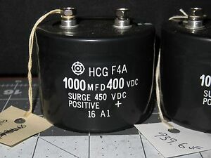 Fanuc Hcg F4a 1000 Mfd Capacitor 400 Vdc Surge 450 Vdc Tested 4217