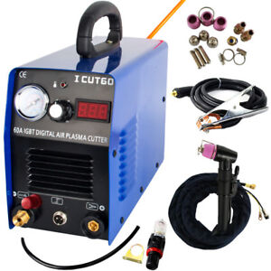 Cut60p Igbt Plasma Cutting Cnc Machine 60a 110v 220v With Wsd60p Consumables