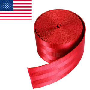 3 6m Diy Red Seat Belt Nylon Polyester Webbing Closeout 1 9 Inch X 141 7inch Us