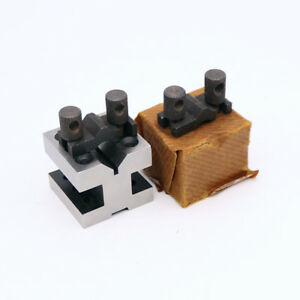2pcs 60x60x50mm V blocks Clamping Set Centering Clamping Tools For The Machine
