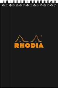 Rhodia Wirebound Pad 6x8 25 Black Grid
