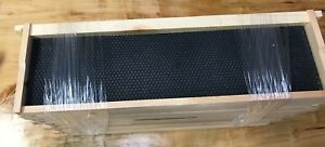 10 Assembled Beehive Shallow Wood Frames Waxed Plastic Pierco Foundations