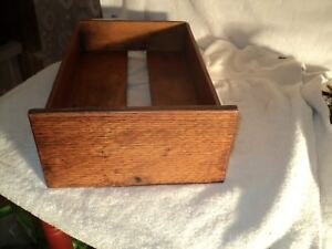 Antique Card File Drawer Oak Early 1900 S