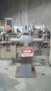 Used Cincinnati Double End Pedestal Grinder