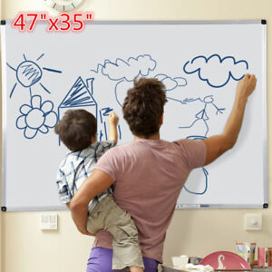 New Magnetic Writing Whiteboard 47 x35 Office School Home Dry Erase Board White