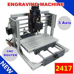 2417 Mini Engraving Milling Machine Engraver Cnc Router Pcb Metal Desktop Diy Us