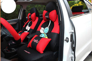 20pcs New 1 Set Female Cute Cartoon Universal Car Seat Cover Cushion Car covers