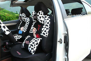 20pcs set Luxury New Female Cute Cartoon Universal Car Seat Cover Car Cushion