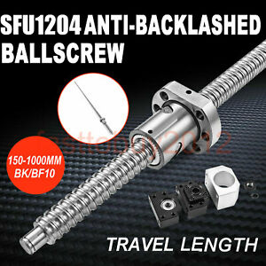 100 1000mm Rolled Ballscrew Sfu1204 W Ballnut Bk bf10 End Support