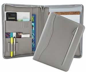Professional Pu Leather Padfolios Business Portfolio Document Organizer