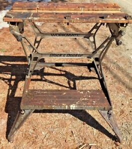 Vintage Black & Decker Workmate 625 Portable Project Work Table Folding Bench