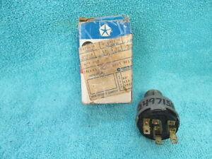 1960 68 Chrysler Dodge Plymouth Ignition Switch Nos Mopar 318