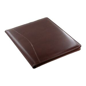 Royce Leather Shiny Leather Writing Portfolio Writing Pad Presentation Fold
