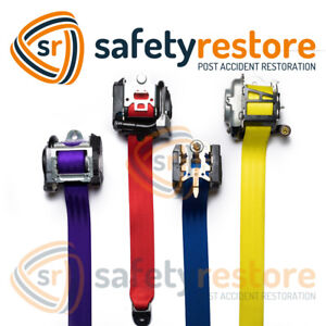 Custom Color Seatbelt Webbing Replacement New Fabric Strap Red Blue Yellow