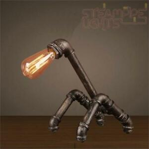 Steampunk Pipe Light Table Top Lamp Vintage Decor Steam Punk Industrial Study