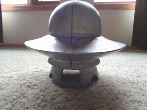 Antique Vintage Industrial Cast Aluminum Cloche Derby Millinery Hat Mold Form