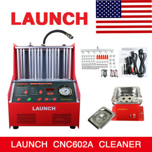 Launch Cnc602a 110v Ultrasonic Fuel Injector Tester Cleaner For Us Petrol Car
