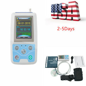 Usa 24 Hours Record Ambulatory Blood Pressure Monitor Holter Abpm2 Pc Software